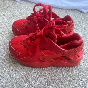 Nike huaraches red toddler